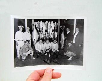 1950s 5x7 Black and White Photo, Vintage Fisherman Mid Century Photo, Sailor Black and White Photo