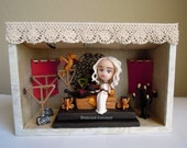 LAST CHANCE - Dany and her Dragons - Original OOAK Miniature Sculpture - Home Decor