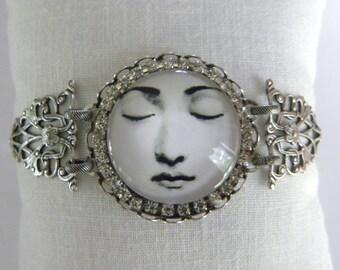 Meditation, Moon Face Bracelet, Moon Goddess, Stay Calm, Man in the Moon, Copyright©2011DonnaJameson