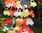 Car, Motorcycle, and Truck Floating Paper Mobile