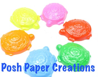 10 sets of 2 Turtle crayons - in cello bag tied with ribbon - choose your colors