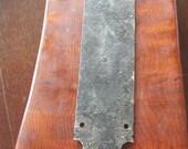 Vintage Gothic Door Plate - Stormy Patina - DIY Restoration Altered Art Vintage Hardware Supply