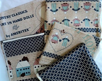 Country Classics Heart in Hand Fabric Panels and Coordinating Fabric - 3 panels and 2 yards of Fabric - by Ameritex