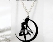 Sailor Moon silhouette necklace