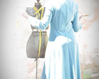 Vintage Heather Blue Traveling Dress