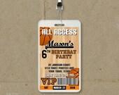 Basketball Birthday Party VIP Pass Style Invitations - Printable DIY