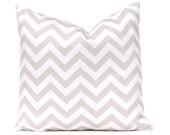 Chevron Pillows Decorative Throw pillow covers set of two 18 x 18 Inches Tan and White Chevron zig zag