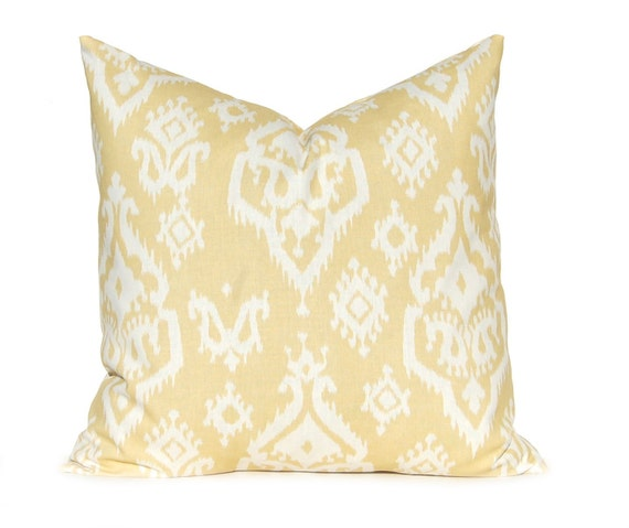Soft Yellow Decorative Pillow : Decorative Pillow Throw Pillow Yellow Gold by FestiveHomeDecor