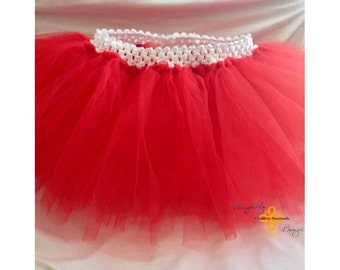 Red infant and little girl tutu