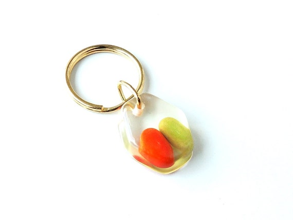Tic Tacs Keyring, Real Sweets in Resin Keyring, Orange, Green, Candy Key Chain