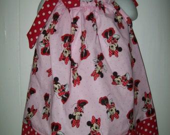 Baby Girl  Minnie Mouse Pillowcase Dress  Sizes Availible Newborn - 6yr