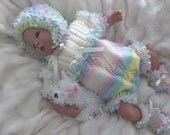 Knitting pattern for romper suit outfit for reborn or baby pdf