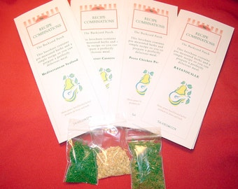 Herb and Recipe Combinations, herbs included, recipe included, corporate gift, party favor