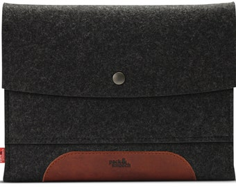 "Samsung Galaxy Tab S 10.5"", case, cover, sleeve, 100% Merino wool felt, vegetable tanned leather"