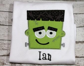 Personalized Frankenstein Shirt, Boy's Frankenstein Shirt, Frankie Shirt, Boy's Halloween Shirt, Trick or Treat