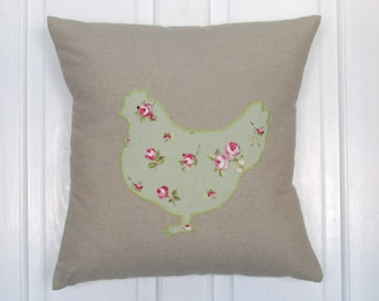 Chicken Cushion, Home Decor, Cushion, Handmade, Free Postage