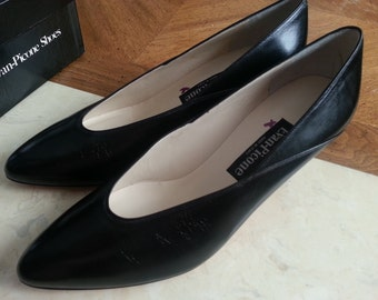 Vintage Dead Stock Evan-Picone Leather Heels Pumps Ladies Size 8.5 M Made in Italy