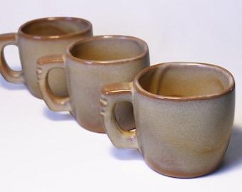 Set of 3 Frankoma 5C Mugs in Desert Gold