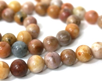 8mm Morocco Agate beads, natural brown round gemstone bead, Full & half strands available  (860S)