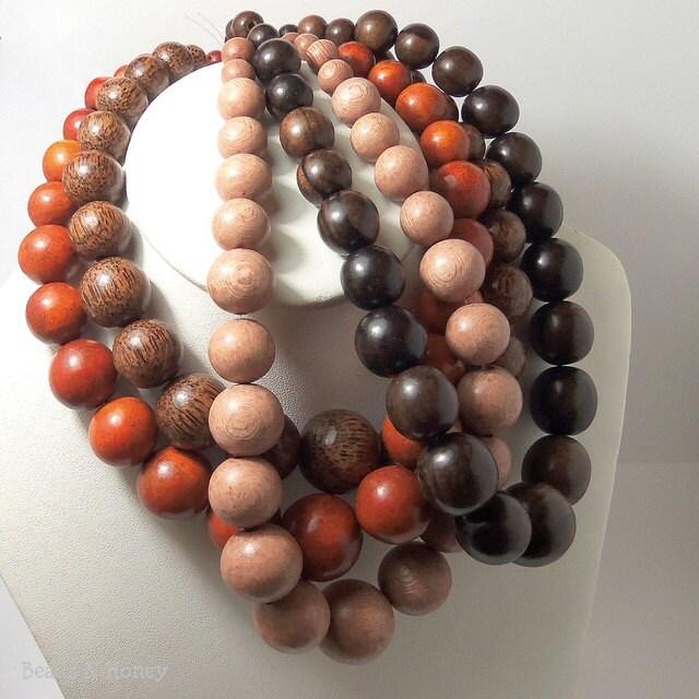 Graduated Wood Beads