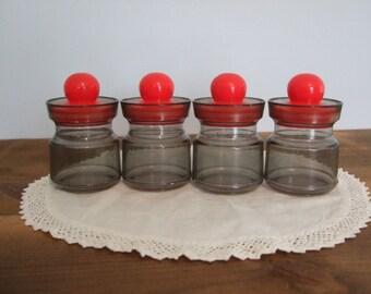 Vintage Mini Storage Jars for Office Organization
