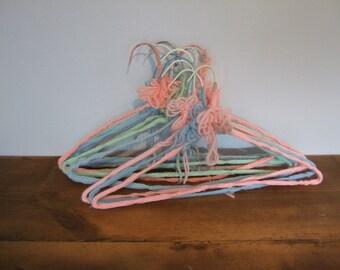 Vintage Crochet Hangers Pastel Set of 11