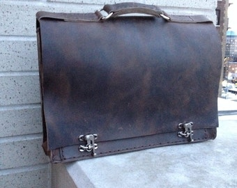 Astor briefcase, mens leather business bag, compartment briefcase, mens bags and briefcases, travel work bags by Aixa Sobin bag Maker