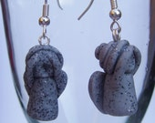 Doctor Who Earrings - Don't Blink Stone Angels - Polymer Clay