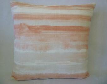 "Decorative Pillow Pink (Peachy) Stripe Designer Pillowcase Sham Slips Accent Throw Pillow. ONE x 16"" (40cm)"