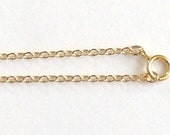 """14K GF Flat Cable 1.5mm x 18"""" Necklace Chain & Clasp"""