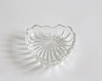 Small Vintage Crystal Heart Dish