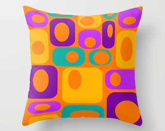 OrangeThrow Pillow Cover,