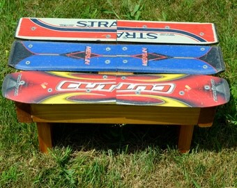 Recycled Ski Kids Stool