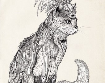 Marvel Witch Cat | Signed archival museum quality A3 Giclee' Print