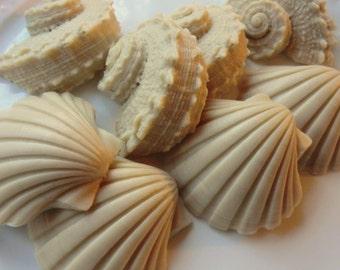 Ocean Bridal Shower Favor - 40 Seashell Soap - shells baby shower favor, beach wedding favor