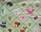 Woodland Forest Friends Nursery Print Flannel 4 Yards.