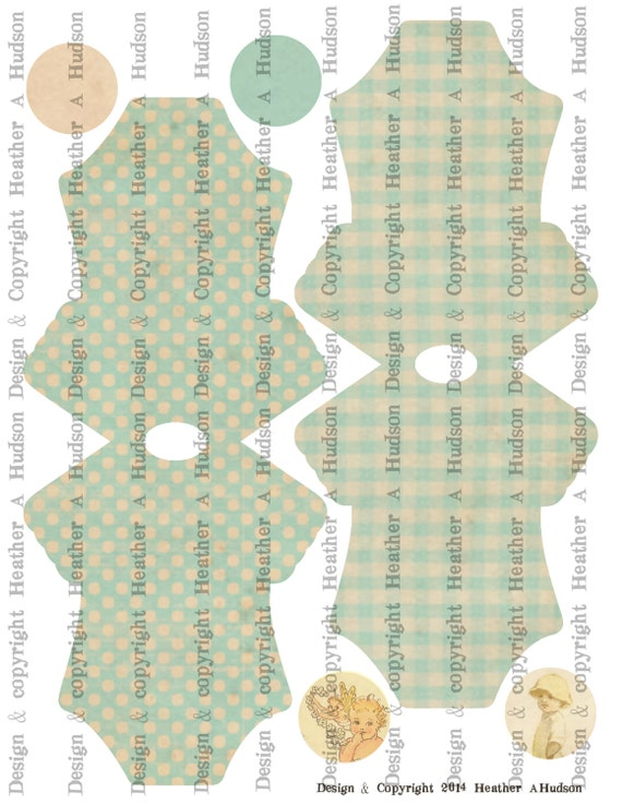 Vintage Baby Girl Boy Twins Blue Onesie Card Base Set Digital Collage sheet Printable