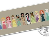 The *Original* Pixel People - Storybook Princesses - PDF Cross-stitch Pattern - INSTANT DOWNLOAD