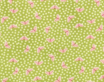 Chantilly - Tiny Butterflies in Field by Lauren + Jessi Jung for Moda Fabrics