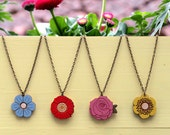 NEW! Single Flower Necklaces. Choice of 4 designs