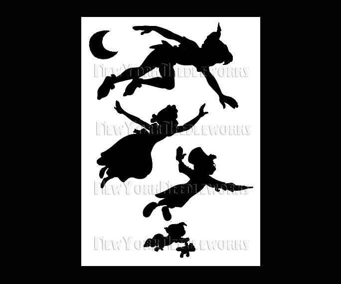 Peter Pan Cross Stitch Disney Cross Stitch Silhouette Cross