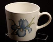 VINTAGE Corning Blue IRIS Coffee Cup