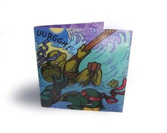 Teenage Mutant Ninja Turtles Wallet - Recycled comic page in vinyl