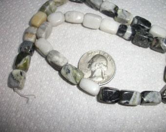 multi-marble pebble,  15-inch strand.