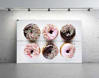 Donut Photo, Doughnuts, Food Photography, Pink Doughnuts Photo, Cake Photo, Chocolate Doughnuts, Mixed Doughnuts Photo, Icing, Sprinkles