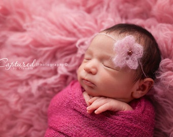 Leighton Heritage Newborn Stretch Wraps IN STOCK and Ready to Ship Super Stretch Knit Soft Swaddle Photography Prop Pink Girly Swaddler