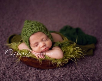 STOREWIDE SALE - Olive Faux Fur Photography Prop - Soft, Cozy, Cuddly Faux Fur Nest - Perfect Newborn Photography Prop