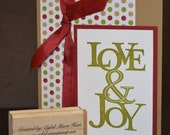 Love & Joy Hand-Made Christmas Card