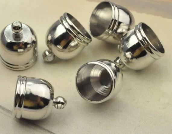 Metal caps pcs white k end cap connectorsbrass mm