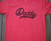 Daddy 2016 shirt - New Dad t shirt- Daddy Christmas Gift -You Pick year- American Apparel Power Wash Tee -M,L,XL,2XL (6 color choices)